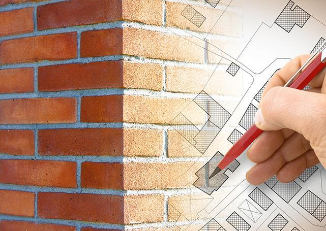 Cegły orazplan budowlany